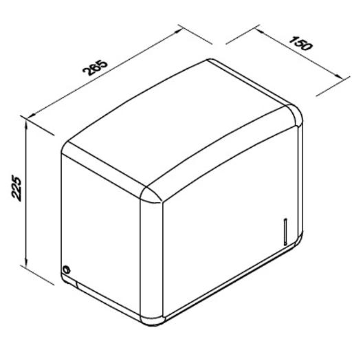 wymiary pojemnika na ręczniki papierowe DK030